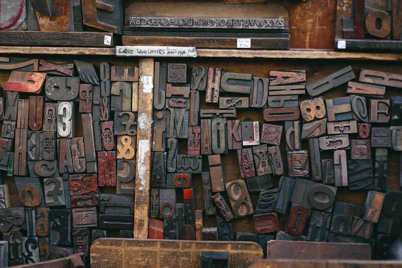 woodtype, impression, police